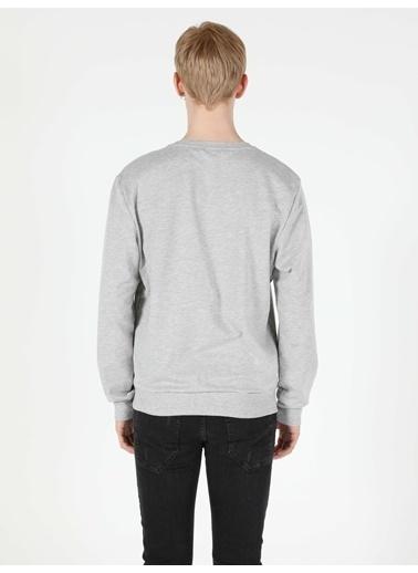 Colin's Regular Fit Erkek Gri Melanj Sweatshirt Gri